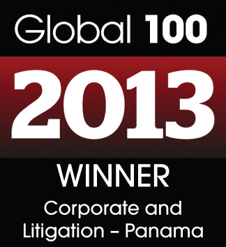 "Global 100 Award 2013 as ""Corporate and Litigation Law Firm of the Year"""