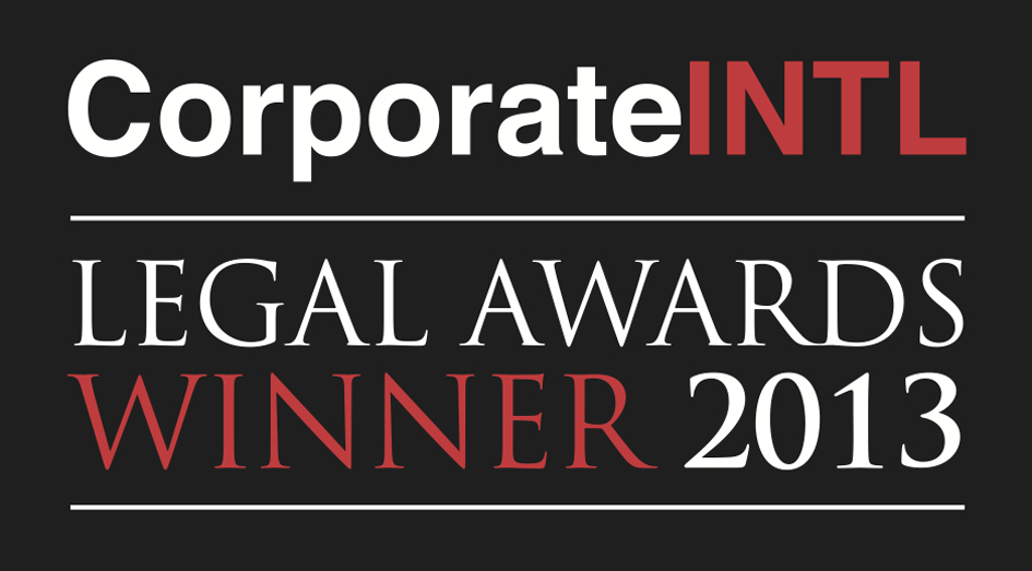 "Corporate Intl Magazine Global Award 2013 as ""Aviation Law Firm of the Year in Panama'"""