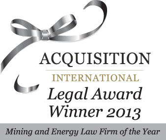 "Acquisition International M&A Awards as ""Mining & Energy Law Firm of the Year: Panama"""